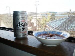 うまうまビール&赤貝の缶詰